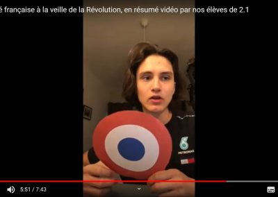 EN VIDÉO : LA SOCIÉTÉ FRANÇAISE A LA VEILLE DE LA RÉVOLUTION, PAR LES ÉLÈVES DE SECONDE