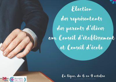 ELECTIONS DES REPRESENTANTS DES PARENTS D'ELEVES : DECOUVREZ LES QUATRE LISTES ET PROFESSIONS DE FOI