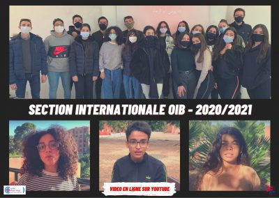 LES ELEVES DE LA SECTION INTERNATIONALE (OIB) EN VIDEO